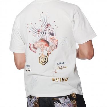 Evisu Taka avec t-shirt à imprimé oiseaux