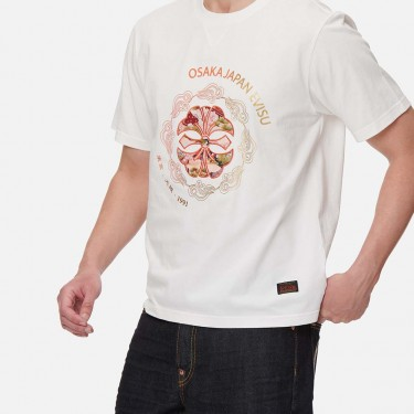 T-shirt imprimé Evisu Brocade Kamon et slogan dégradé