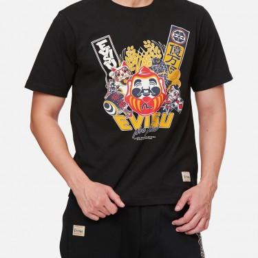 T-shirt imprimé Evisu Godhead and Lucky Charms
