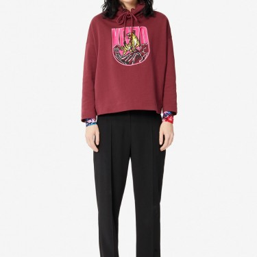 Kenzo Femme Sweatshirt 'Tiger Mountain' 'Capsule Expedition' bordeaux