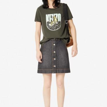 Kenzo Femme T-shirt 'Tiger Mountain' 'Capsule Expedition' kaki fonce