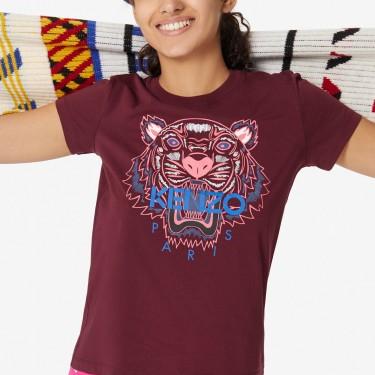 Kenzo Femme T-shirt Tigre bordeaux