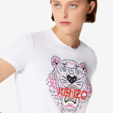 Kenzo Femme T-shirt Tigre blanc