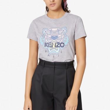 Kenzo Femme T-shirt Tigre gris perle