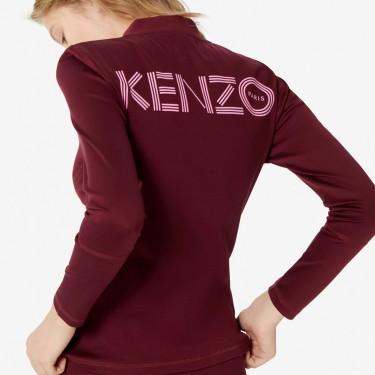 Kenzo Femme Blouson zippé KENZO Logo bordeaux