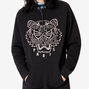 Kenzo Femme Sweatshirt à capuche Tigre 'Capsule Expedition' noir