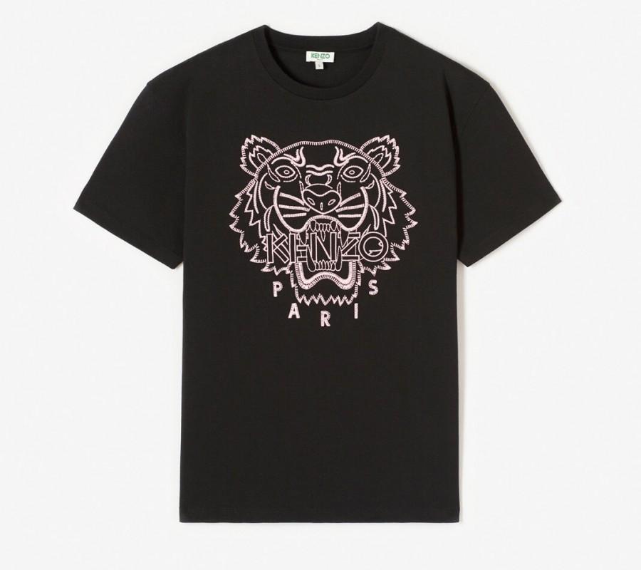 Kenzo Femme T-shirt Tigre 'Capsule Expedition' noir