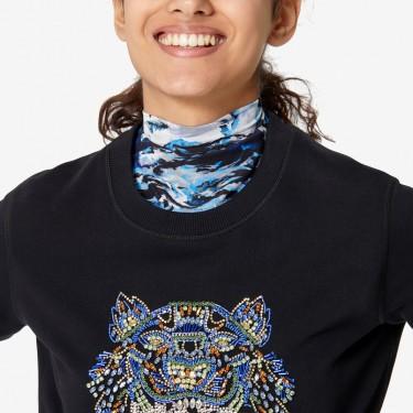 Kenzo Femme Sweatshirt Tigre brodé main noir