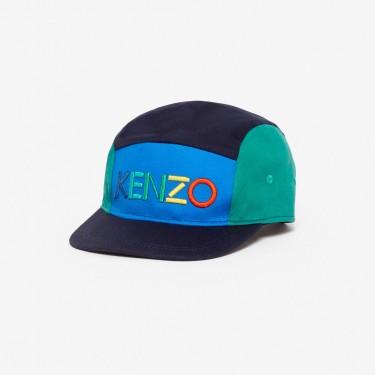 Kenzo Enfant Casquette KENZO colorblock bleu marine