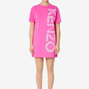 Kenzo Femme Robe t-shirt Kenzo Logo rose begonia
