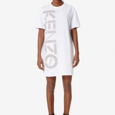 Kenzo Femme Robe t-shirt Kenzo Logo blanc