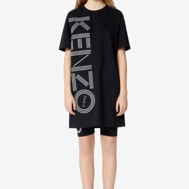 Kenzo Femme Robe t-shirt Kenzo Logo noir