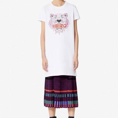Kenzo Femme Robe t-shirt Tigre blanc