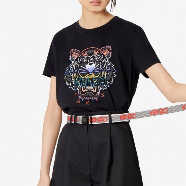 Kenzo Femme T-shirt Tigre dégradé noir