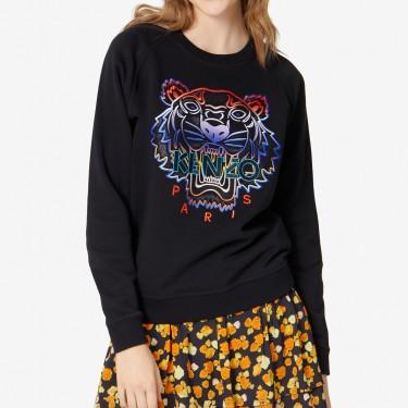 Kenzo Femme Sweatshirt Tigre dégradé noir