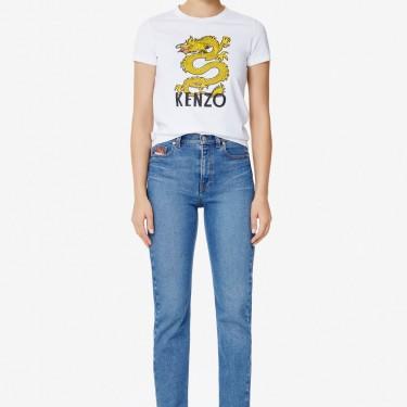 Kenzo Femme T-shirt 'Dragon' blanc
