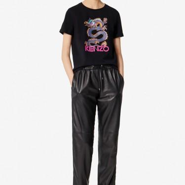 Kenzo Femme T-shirt 'Dragon' noir