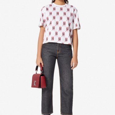 Kenzo Femme T-shirt boxy 'Rice Bags' blanc