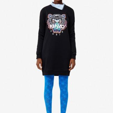 Kenzo Femme Robe sweatshirt Tigre noir