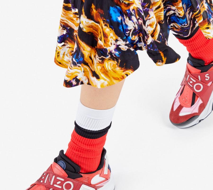 Kenzo Femme Baskets Sonic à scratch bordeaux
