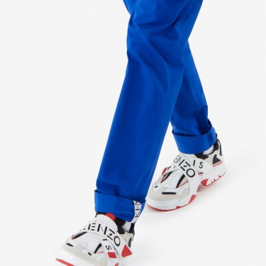 Kenzo Homme Baskets Sonic à scratch rouge moyen