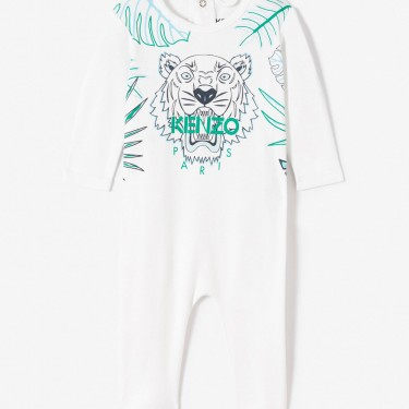 Kenzo Enfant Dors-bien Tigre 'Hawai' blanc