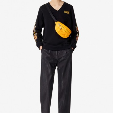 Kenzo Femme Sweatshirt 'Passion Flower' noir