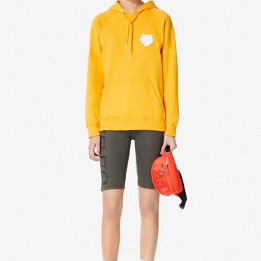 Kenzo Femme Sweatshirt Tigre à capuche jaune orange