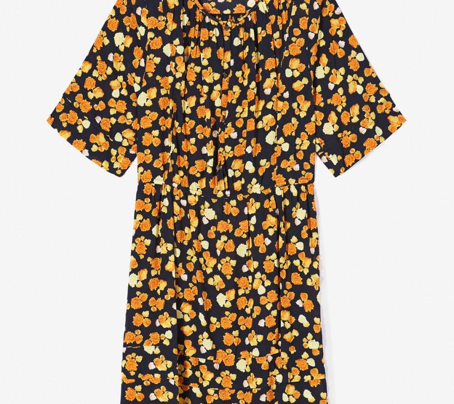 Kenzo Femme Robe 'Ditzy Peonie' jaune orange