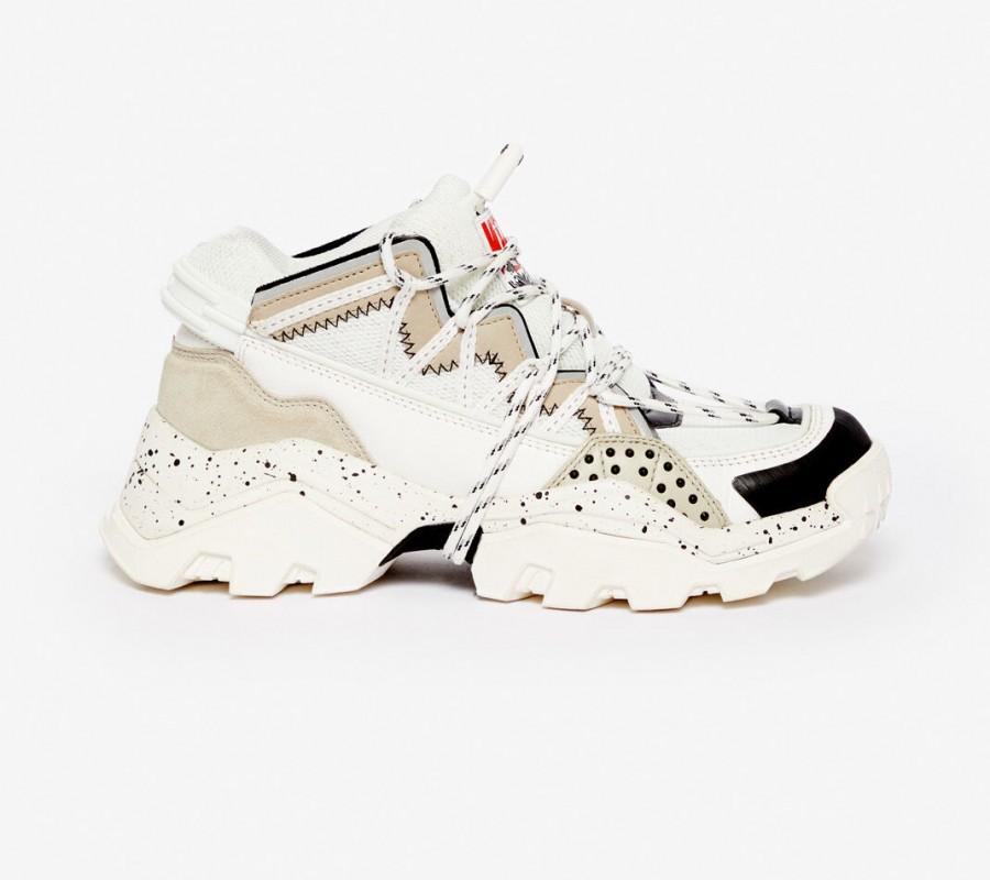Kenzo chaussure Baskets Inka gris clair