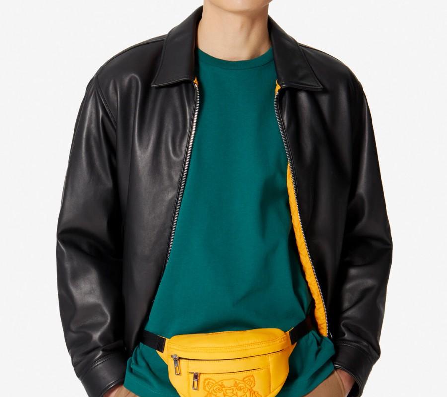 Kenzo Sac Femme Mini sac ceinture avec broderie Tigre jaune orange