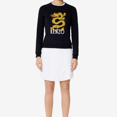 Kenzo Femme Sweatshirt 'Dragon' noir
