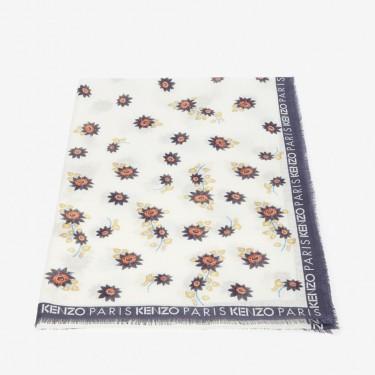 Kenzo Accessoires Foulard 'Passion Flowers' blanc